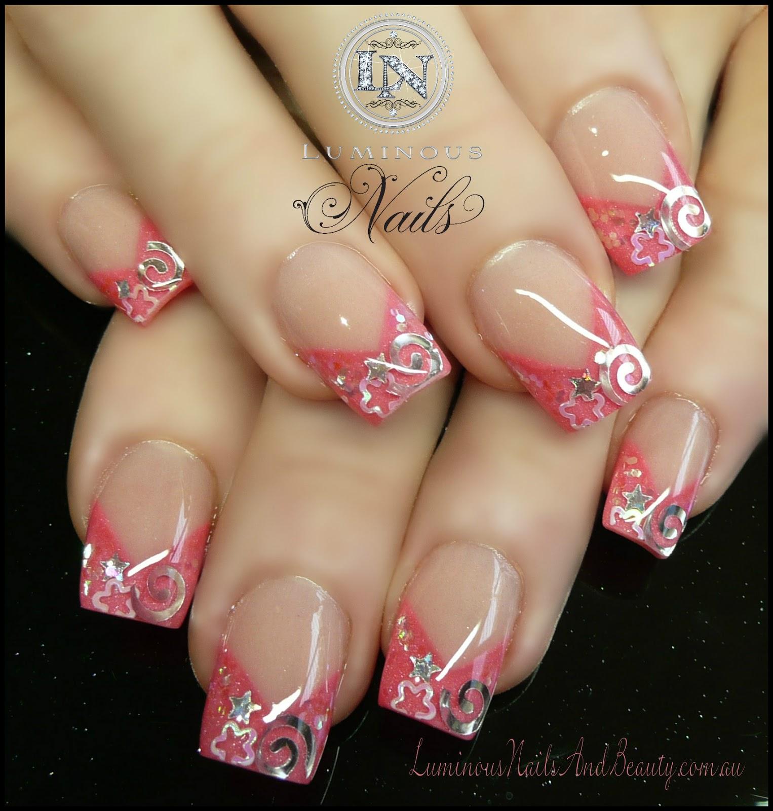 Pink Acrylic Nail Designs: Luminous Nails: January 2013