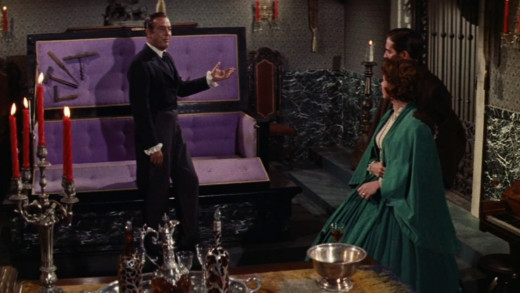 Guy demonstrates his fail-safe mausoleum to Emily & Miles, The Premature Burial (1962)