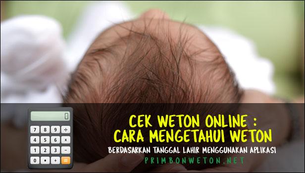 Cek Weton Online