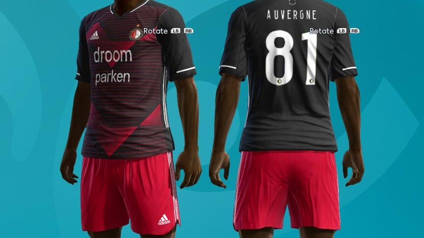 Pes 2013 Feyenoord Rotterdam 20 21 Kits Kazemario Evolution