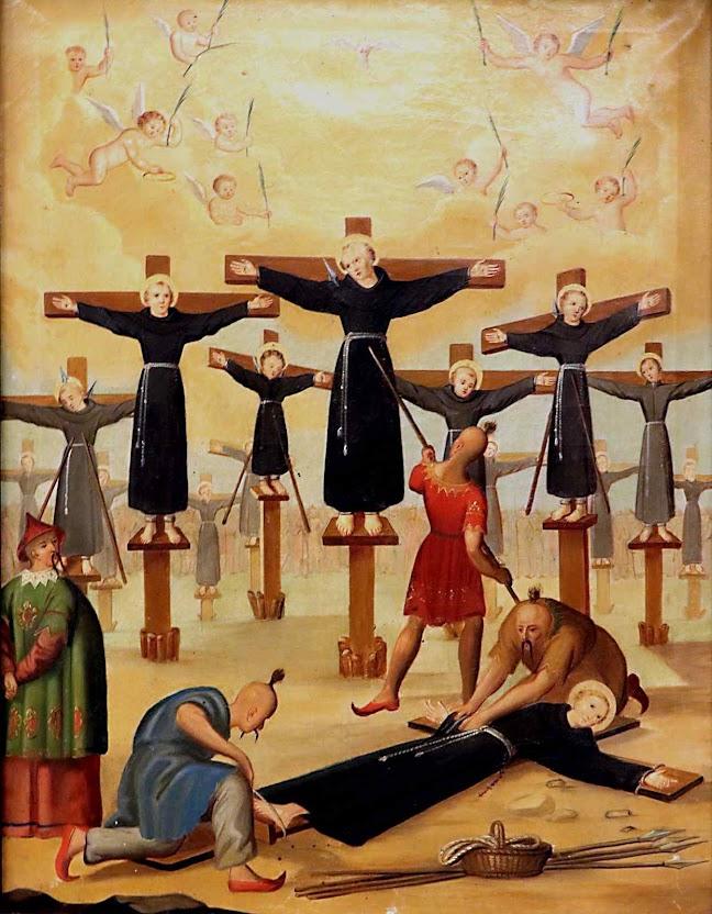 26 mártires de Nagasaki. Em convento franciscano da Senhora das Neves em Praga