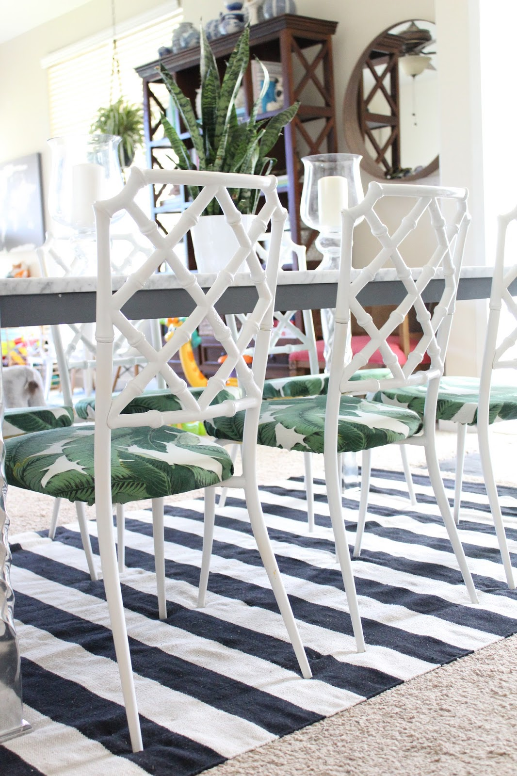Bamboo Dining Chair In Steel Reinforcement Life With A Dash Of Whimsy Diy Vintage Faux Chairs Update