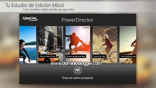 App PowerDirector gratis para Android