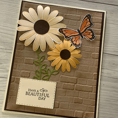 Cards using Brick & Mortar 3D Embossing Folder Background