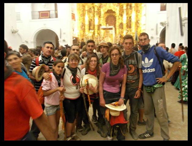 Mi grupo de peregrinos a la llegada al santuario