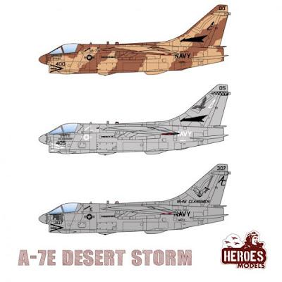 1/144 DECALS – A-7E Desert Storm