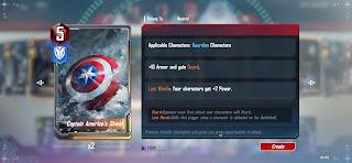 Marvel duel captain america's shield