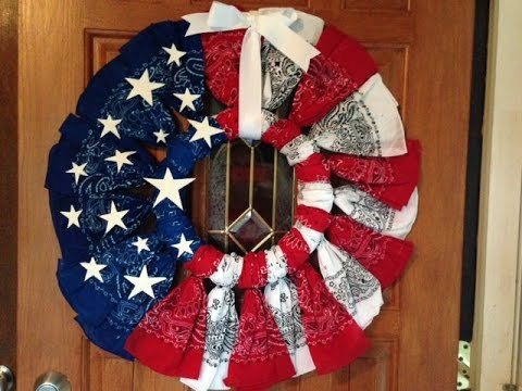 4th of july bandana wreath