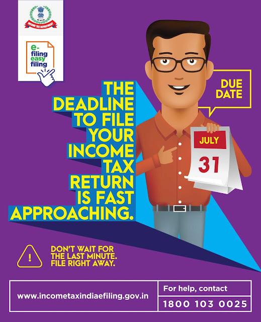 Submit Income Tax Return आयकर विवरण भरें