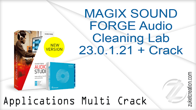 MAGIX SOUND FORGE Audio Cleaning Lab 23.0.1.21 + Crack