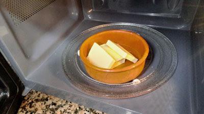 calentamos la mantequilla en el micro