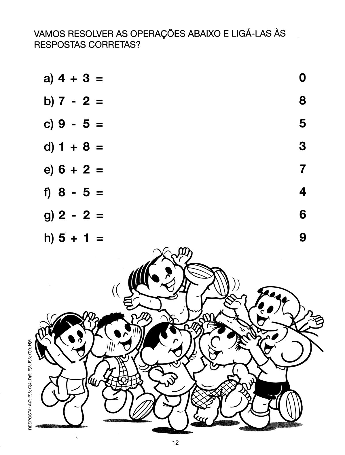 A Arte De Educar Atividades De Matematica Turma Da Monica