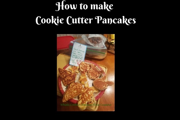 this is how to make homemade cookie cutter pancakes using a homemade recipe from scratch for the Christmas Holiday season.