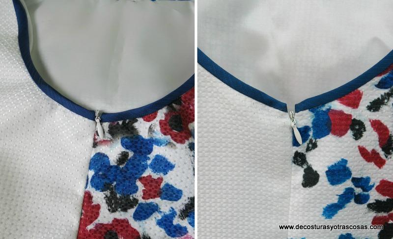 como coser una cremallera hasta el tope