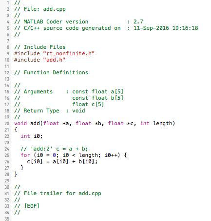 Matlab Coder Toolbox Tutorial