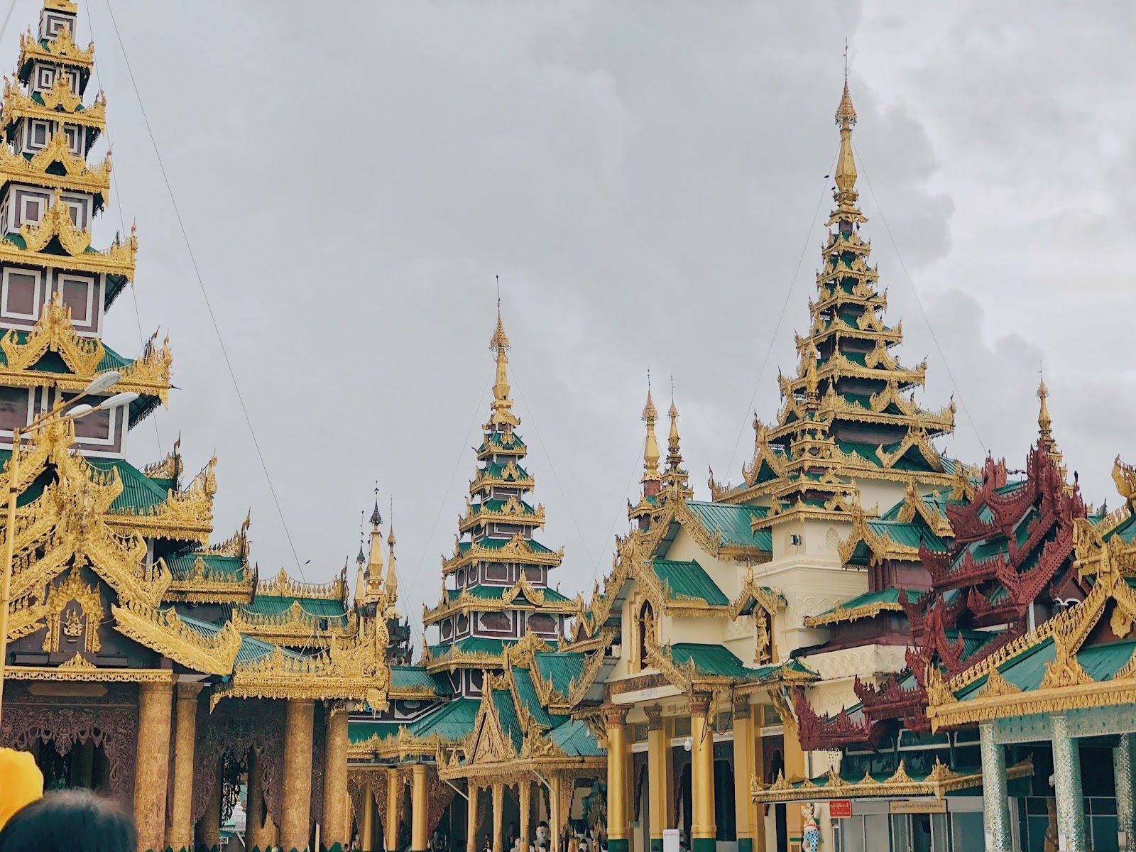 The beauty of Shwedagon pagoda