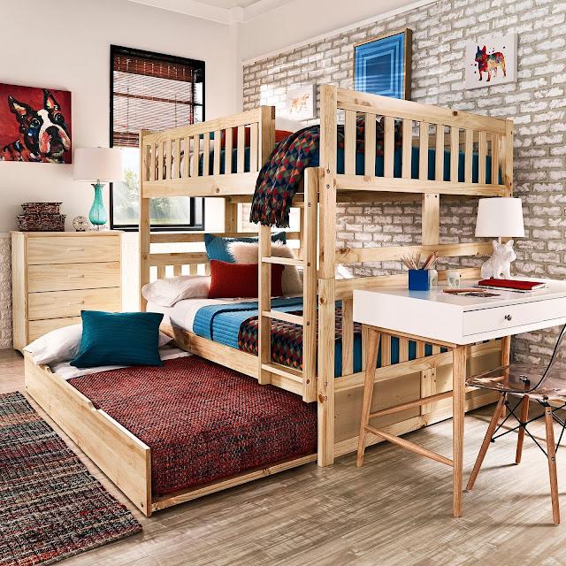 iường ngủ thuần màu gỗ tự nhiên