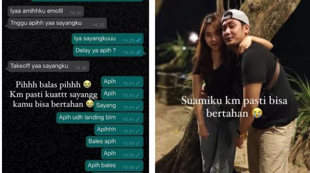 Haru! Istri Korban Kecelakaan Sriwijaya Air SJ182 Bagikan Chat Terakhir