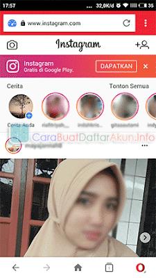 membuka instagram lewat google