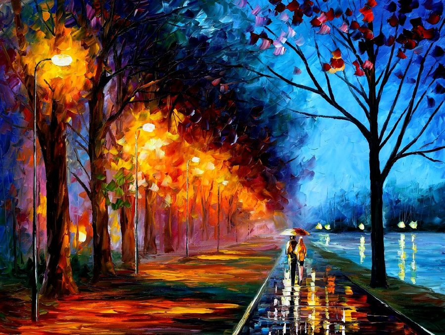 Emm Pronounced Edoublem Leonid Afremov Quot Alley By The Lake Quot