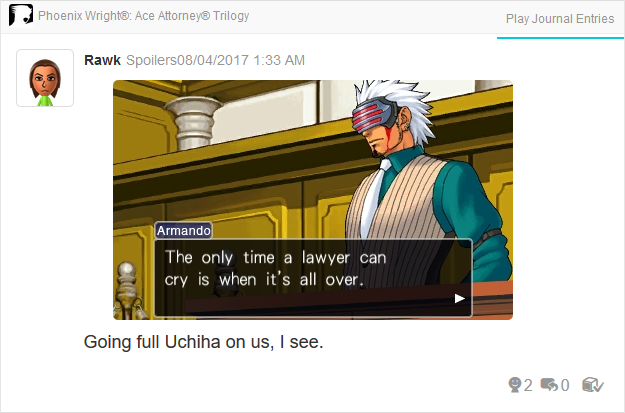 Phoenix Wright Ace Attorney Trials and Tribulations Godot bloody tears only time a lawyer can cry is when it's all over