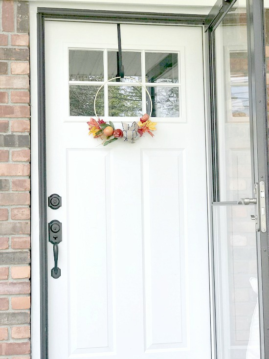 Easy Large Hoop Wreath for the Front Door in the Fall