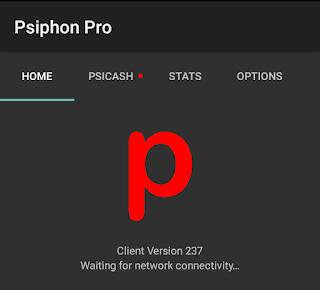 proses penghubungan psiphon