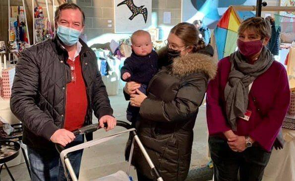 Hereditary Grand Duke Guillaume, Hereditary Grand Duchess Stephanie and Prince Charles visited Luxembourg Red Cross Bazaar
