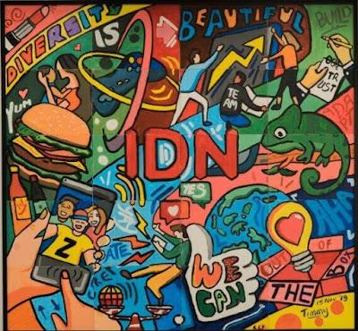 Mural Perusahaan IDN Media