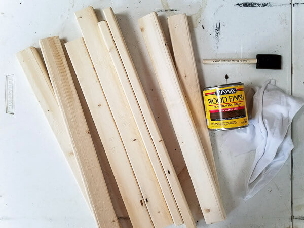 stain frame pieces