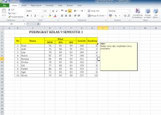 Cara Mengaktifkan Insert Comment di Excel