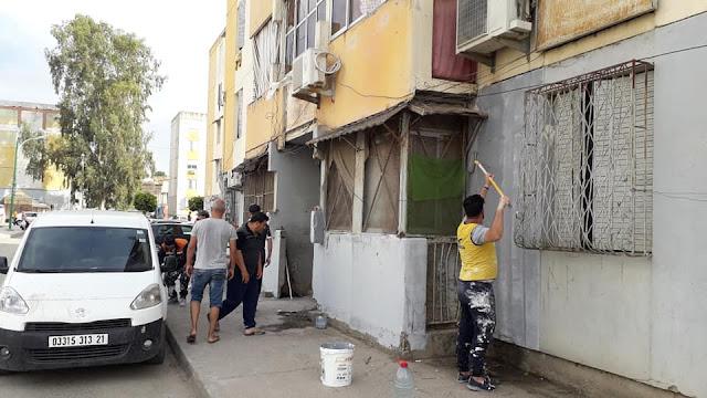 حملة النظافة في حي 20اوث 55 وعلى رأسها رايس بلديةسكيكد ونشكره كل الشكر الجزيل