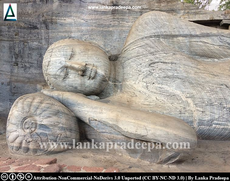 The sleeping Buddha statue