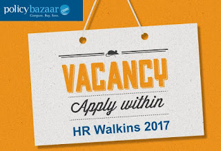 Policybazaar HR Walkins 2017 - Submit Resume (HR Job Openings)