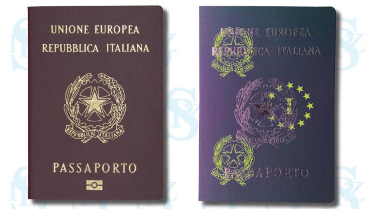 Passaporto falso Ufficio Immigrazione Polizia lampada di Wood