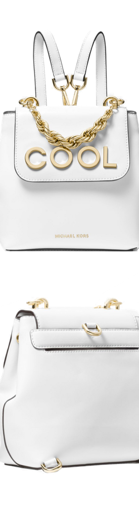 MICHAEL MICHAEL KORS Mott Extra-Small Embellished Leather Backpack