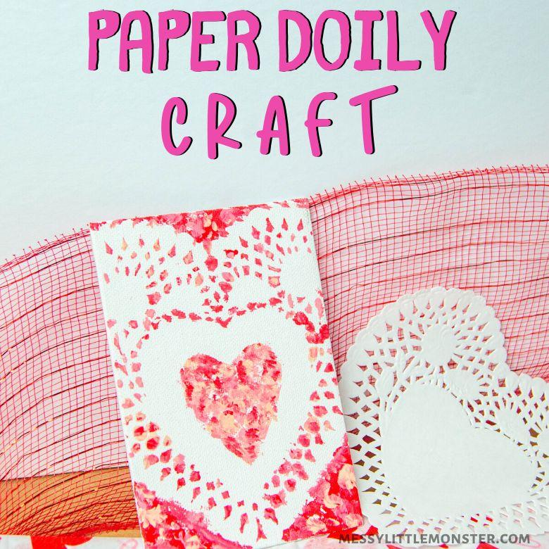 paper doily heart art project