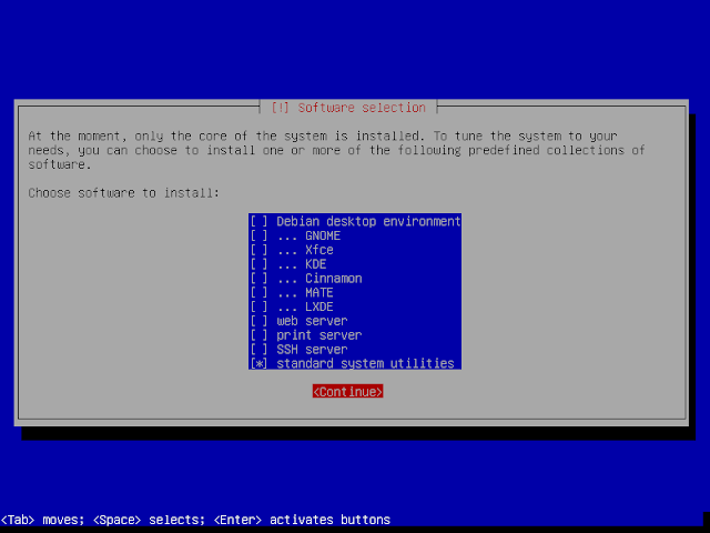 pilihan software instalasi debian 9.6
