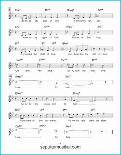 chord love for sale 2 lagu jazz standar