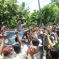 Masyarakat dan Puluhan Kiai Sambut Kedatangan Prabowo di Ponpes Assadad Ambunten Sumenep