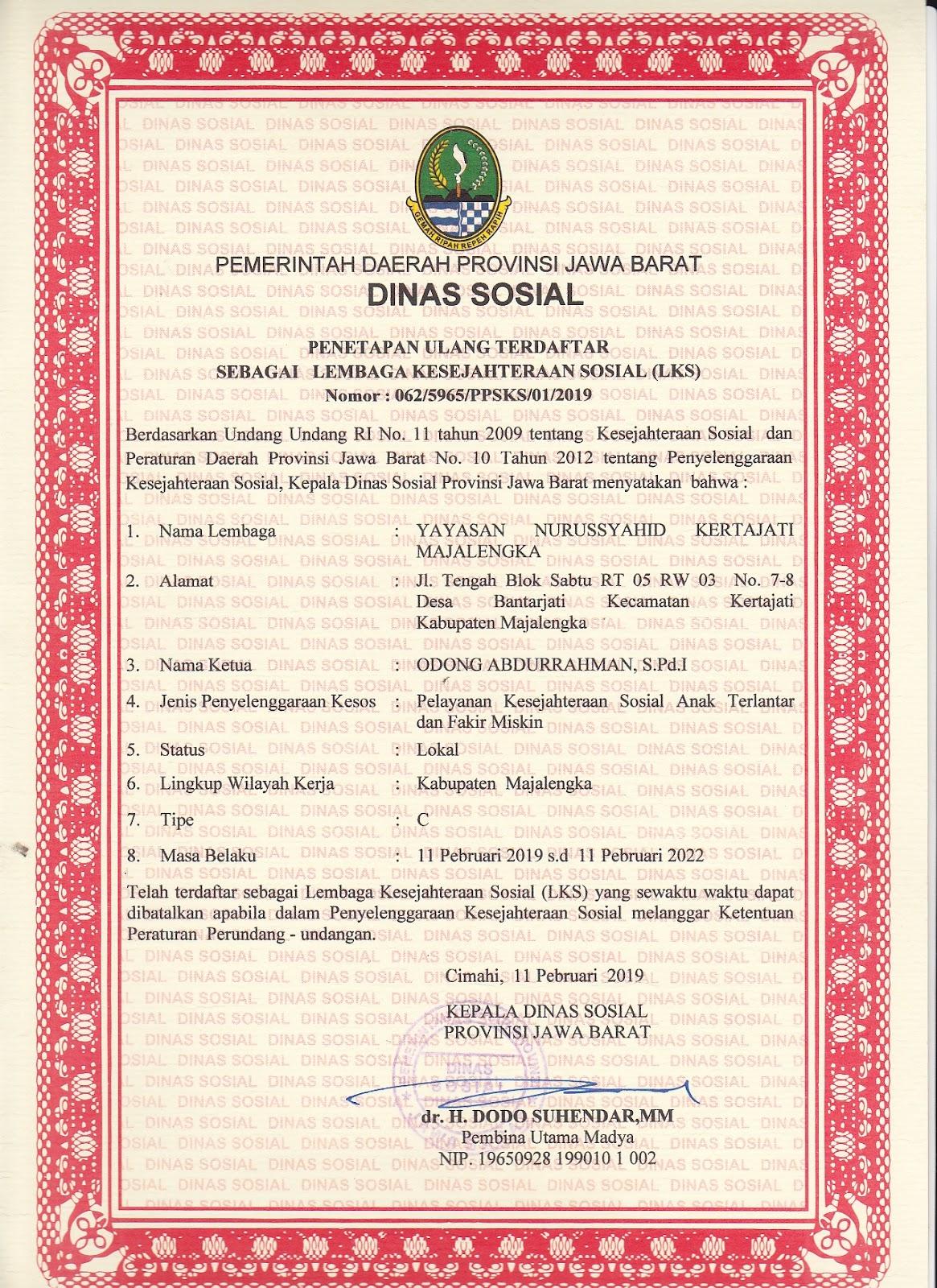 Profil Yayasan Nurussyahid Kertajati Majalengka Dalam
