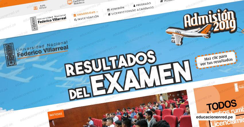 UNFV publicó Lista de Ingresantes del Examen de Admisión Ordinario 2019 (Resultados Domingo 7 Abril) Universidad Nacional Federico Villarreal - www.unfv.edu.pe