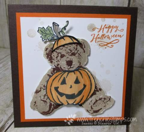 Stampin'Up! Baby Bear, Jar of Hunts, Halloween Card