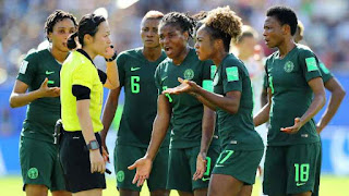 Breaking!! Super Falcons Protest Unpaid Bonuses At WWC, Refuse To Leave Hotel In France