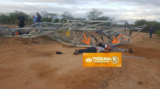 Homens são encontrados mortos em linha de transmissão de energia em Ipanguaçu