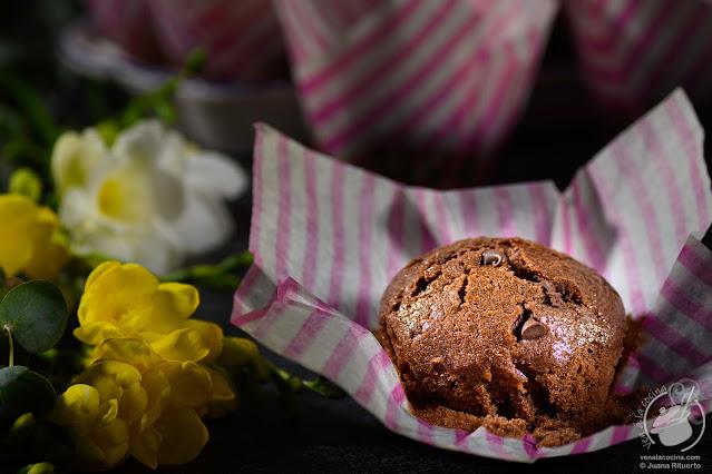 Muffins de chocolate (lo más parecido a los de Starbucks)