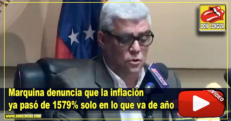 Marquina denuncia que la inflación ya pasó el 1579% solo en lo que va de año