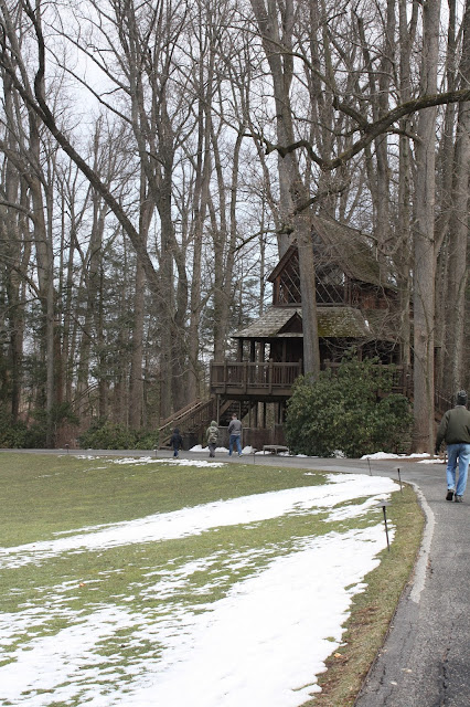 Alpine style treehouse at Longwood Gardens