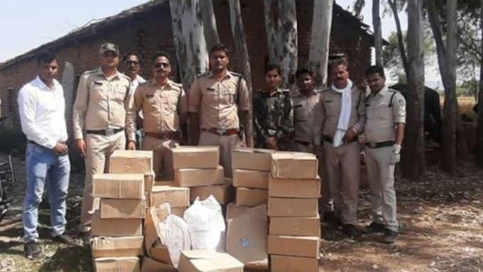 खेत से पुलिस ने जप्त की भारी मात्रा में शराब, तीन गिरफ्तार
