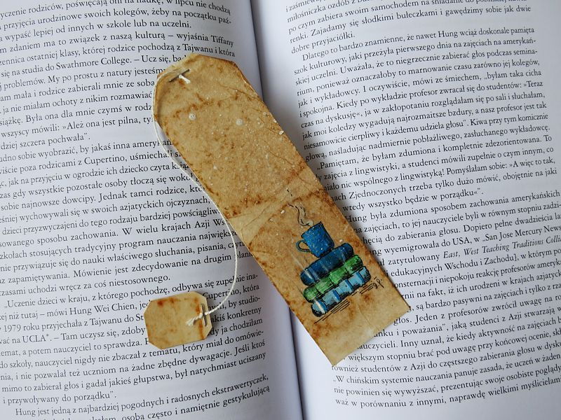 Herbaciane zakładki do książki